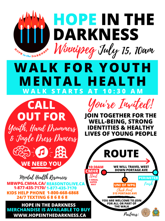 Hope in the Darkness Walk for Youth Mental Health Launch